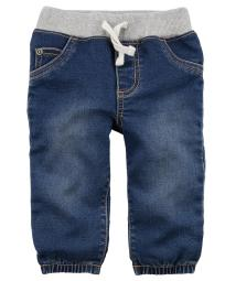 Carter's Baby Boys' Pull-On Faux Denim Joggers, 9 Months
