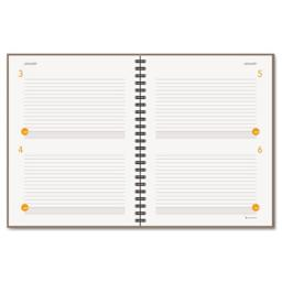 At-A-Glance 80620430 Two-Days-Per-Page Planning Notebook  Gray  8 .5 in. x 11 in.   2013