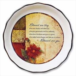 Abbey Press 405706 Pie Plate Blessed Are They