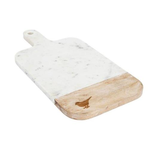 IMAX 95804 Trisha Yearwood Songbird Marble Cutting Board, Beige