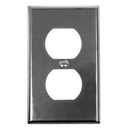 Acorn AW5BP Smooth Iron-Steel Single Duplex Outlet Switch Plate