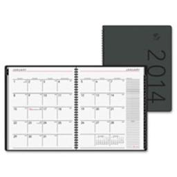 At-A-Glance AAG70120X05 Monthly Desk Appt Book, Jan-Dec, 2PPM ,6.88 in. x 8.75 in., Black