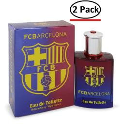 FC Barcelona by Air Val International Eau De Toilette Spray 3.4 oz for Men (Package of 2)