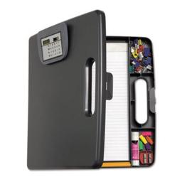 Portable Storage Clipboard Case with Calculator, 12w x 13.1h, Charcoal