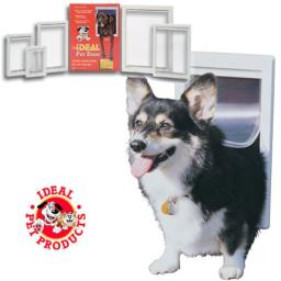 Ideal PPDS Original Pet Door Small White 5 in. x 7 in.