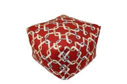 Lava Pillows Ropes Cherry - 16 X 12 Square Indoor/Outdoor Pouf