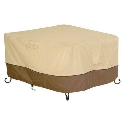 Classic Accessories 55-620-011501-00 Square Fire Table Cover, Pebble