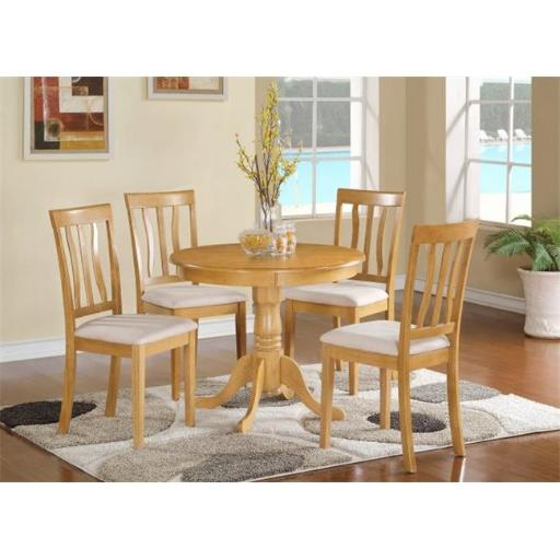 East West Furniture ANTI5-OAK-C 5 Piece Kitchen Nook Dining Set-Small Kitchen Table and 4 Dining Chairs