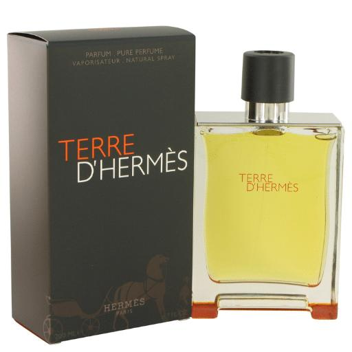 Terre D'Hermes by Hermes Pure Perfume Spray 6.7 oz for Men (Package of 2) Hermes Terre D'Hermes harkens to the scent of a natural man living in splendor. This elegant fragrance debuted on the market in 2006 and quickly defined itself as a leading industry standard. We are pleased to sell Hermes Terre d'Hermes products, including Terre d'Hermes cologne.