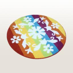 Naomi - Romantic Snowy World Round Home Rugs (35.4 by 35.4 inches)