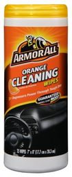 Armor All Orange Cleaning Wipe Plastic Canister - 25 Sheets, (Pack of 6)