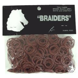 Horse Mane & Tail Braiding Bands - Dk Brown [Misc.]