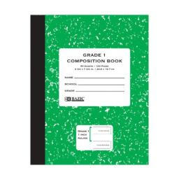 Bazic Grade 1 Primary Composition Book, 50 Sheets, 100 Pages (5093-12)