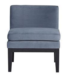 Studio Designs Home Cornice Contemporary Slipper Chair in  Blue Cornflower