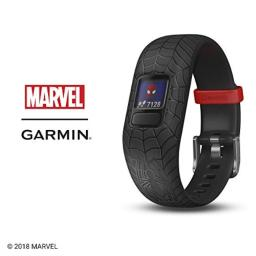 Garmin vívofit Jr 2, Kids Fitness/Activity Tracker, 1-Year Battery Life, Adjustable Band, Marvel Spider-Man, Black