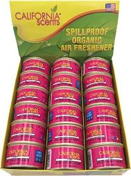 California Scents Spillproof Organic Air Freshener, Coronado Cherry , 1.5 Ounce Canister (Pack of 18)