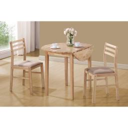 Sophisticated 3 Piece Wooden Table And Chair Set, Brown