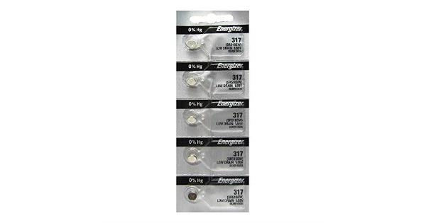 Energizer 317 Button Cell Silver Oxide SR516SW Watch Battery Pack of 5 Batteries Energizer 317 Button Cell Silver Oxide SR516SW Watch Battery Pack of 5 Batteries