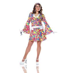 Costume Culture Women's Plus-Size Groovy Chic Costume Plus, Pink, 1X