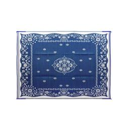 Camco Blue Oriental 42851 Awning Leisure Mat 9' X 12'