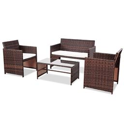 4 pcs Sofa Cushioned Seat Furniture Set