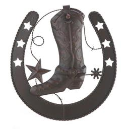 Accent Plus Horseshoe and Cowboy Boot Metal Wall Decor