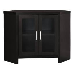 "Offex OFX-504268-MO Entertainment Room TV Stand, 42""L/Cappuccino Corner with Glass Doors"