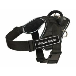 Dean & Tyler Fun Works Special-Ops K9 Harness, Small, Fits Girth Size: 22-Inch to 27-Inch, Black with Reflective Trim
