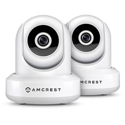2-Pack Amcrest HDSeries 720P WiFi Wireless IP Security Surveillance Camera System IPM-721 (White)