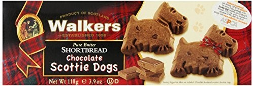 Walkers Shortbread Chocolate Scottie Dogs Shortbread 3.9 oz