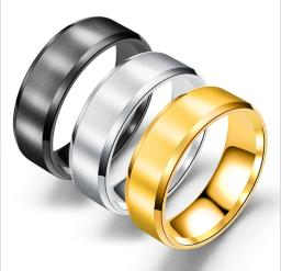 Set Of 3 Stainless Steel Classic Wedding Band Ring