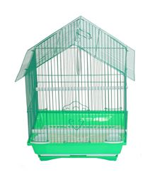 """YML A1314MGRN House Top Style Small Parakeet Cage - 13.3"""" x 10.8"""" x 17.8"""" - Green"""