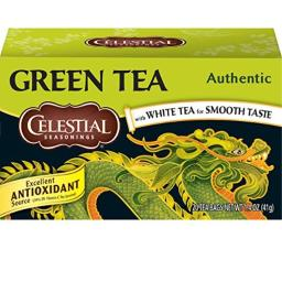 Celestial Seasonings Authentic Green Tea - Case of 6 - 20 Bags