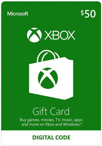 $50 Xbox Gift Card Digital Code