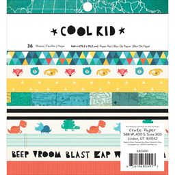 American Craft Crate Paper Cool Kid Collection 6 X 6 Paper Pad