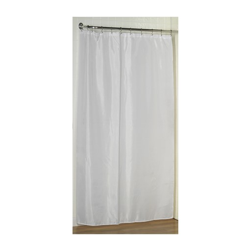 Carnation Home Fashions Shower Stall-Sized Polyester Shower Curtain Liner in White