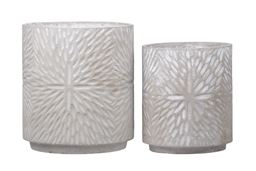 Urban Trends Collection UTC58301 Cement Round Pot Washed Concrete Finish - Set of 2, Gray