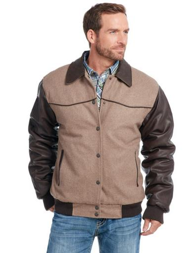 Cripple Creek Western Jacket Mens Faux Leather Pointed Yokes CR40066 3210D56FDF8A9905