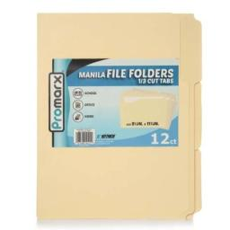 Promarx Manilla File Folders - 12 Count