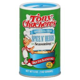 Tony Chachere's Seasoning Spice & Herb, 5-Ounce (Pack of 6)