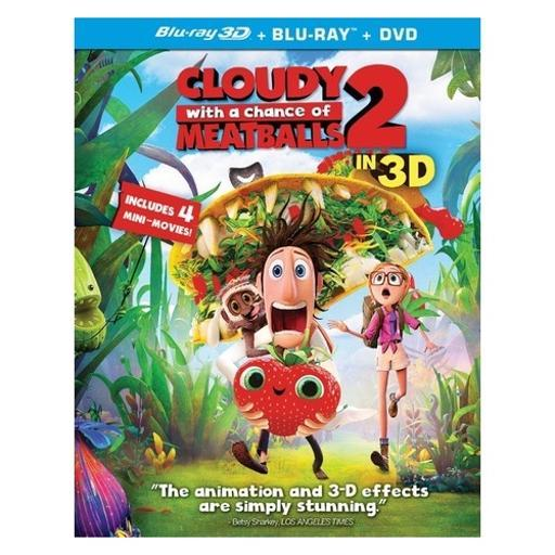 Cloudy with a chance of meatballs 2 (blu-ray/dvd/3-d/ultraviolet) (3-d) 1491127