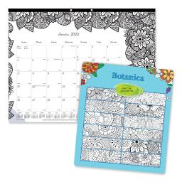 Doodleplan Desk Pad Calendar With Coloring Pages 22 X 17 2021   Total Quantity: 1