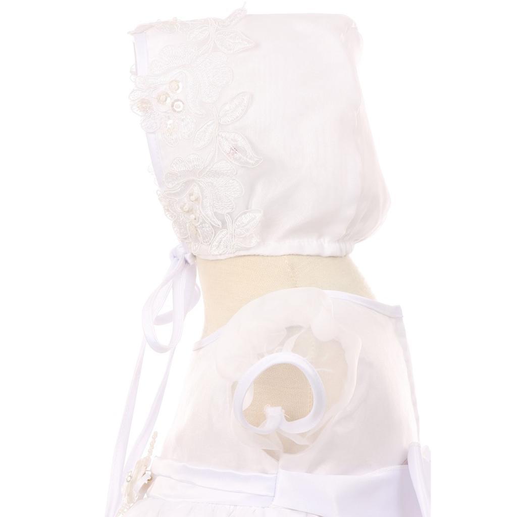 46ef2c5157d Kids Dream Kids Dream Baby Girls White Organza Pearls Sequins Christening  Dress 3-24M
