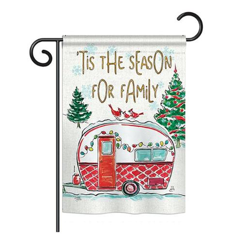 Breeze Decor BD-XM-G-114202-IP-BO-DS02-US Season for Family Winter - Seasonal Christmas Impressions Decorative Vertical Garden Flag - 13 x 18.5 in.