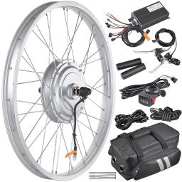 "24"" 36V 750W Electric Bicycle Front Wheel E-Bike Conversion Kit Speed Throttle Controller for 1.95""-2.5"" Tire"