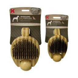Hugs Pet Products 50008 Brown Hugs Pet Products Massaging Pet Palm Brush Small Brown 5.75 X 3 X 2.25 50008