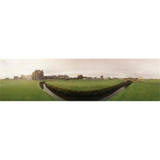 Golf course with buildings in the background The Royal and Ancient Golf Club St. Andrews Fife Scotland Poster Print by - 36 x 12