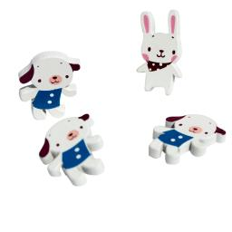 Dog & Rabbit - Refrigerator Magnets / Animal Magnets