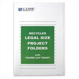 C-Line Products 62129BNDL2BX Recycled Project Folders  Clear  Reduced Glare  LEGAL  14 x 8 .5  25-BX - Set of 2 BX