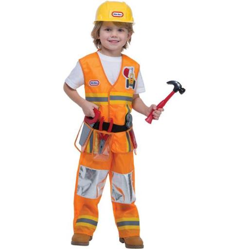 Loftus LF1498TL Toddler Construction Worker Costume - 3T-4T